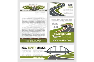 Road and highway banner template design