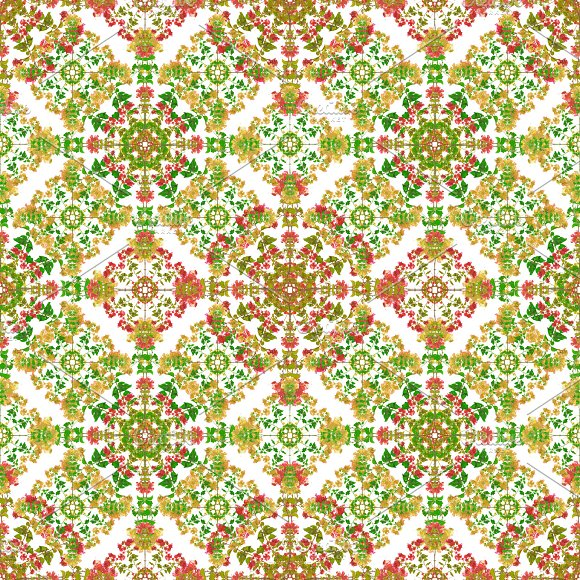 Colorful Stylized Floral Ornate Pattern