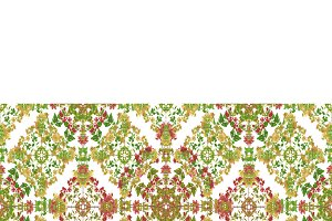 Stationery Background with Ornate Decorated Borders