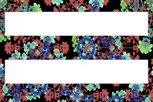 Floral Stripes Background Pattern