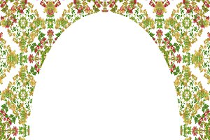 Circle Frame with Ornate Decorated Borders