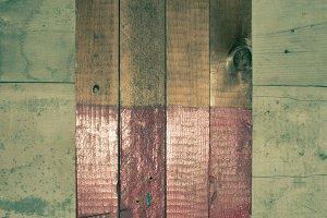 Multicolored Vintage Wood