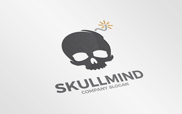 Skull and bomb logo combination in Logo Templates