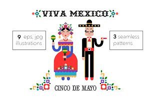 Cinco de Mayo illustrations