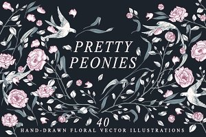 Pretty Peonies Floral Collection