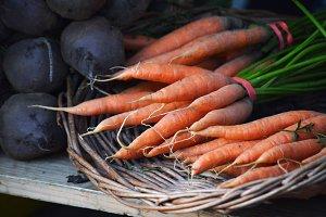 Carrots at Farmer's Market