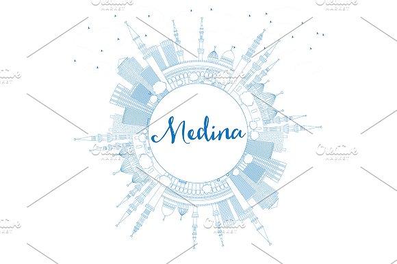 Outline Medina Skyline
