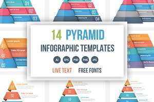 Pyramid Infographics Bundle