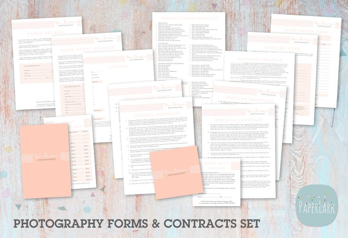 NG003 Photography Contracts Forms Stationery Templates – Photography Contracts
