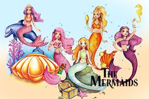 The Mermaids Clipart Images