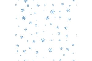 Snowflakes Seamless Pattern Vector in Flat Design