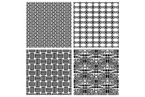 Tribal fashion primitive seamless patterns