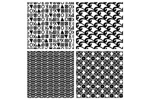 Traditional print fashion seamless patterns