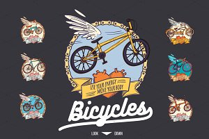 Bicycles Icons Pack