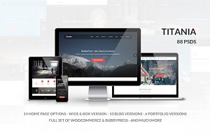 Titania - Multipurpose PSD Template