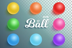 Photorealistic Vector Sphere Set