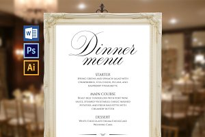 Wedding Menu Board Wpc92