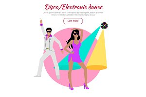 Disco and Electronic Dance Conceptual Banner