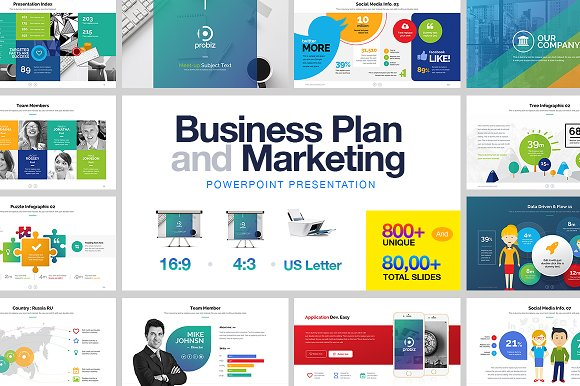 Business plan powerpoint presentation templates creative market business plan marketing powerpoint friedricerecipe Image collections