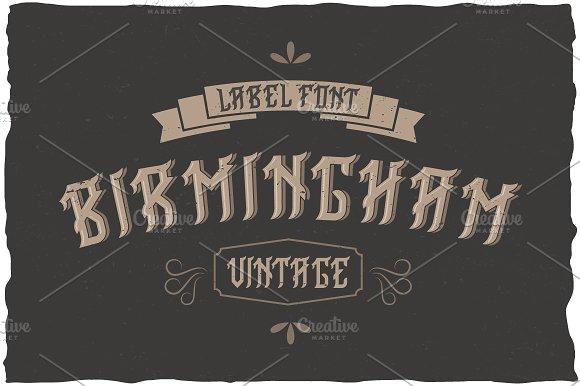 Birmingham Vintage Label Typeface