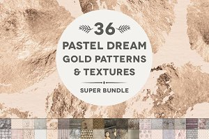 36 Pastel Dream Rose Gold & Textures