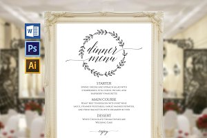 Wedding Menu Board Wpc94