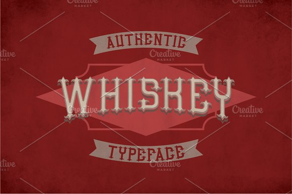 Authentic Whiskey Label Typeface