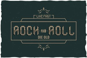 Rock And Roll Label Typeface