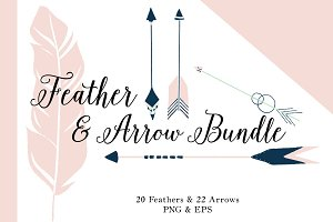 SALE Design Bundle Arrow & Feather