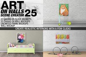 Canvas Mockups - Frames Mockups v 25