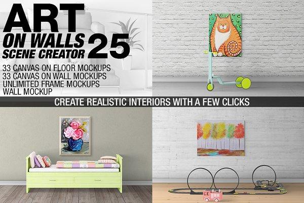 Canvas Mockups - Frames Mockups v 2…