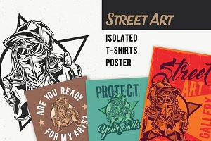 StreetArt T-shirts And Poster Labels