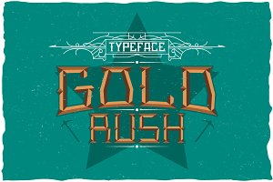 Gold Rush Label Typeface