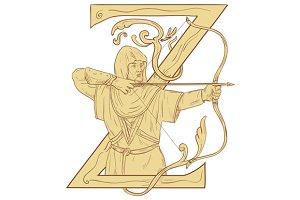 Medieval Archar Aiming Bow