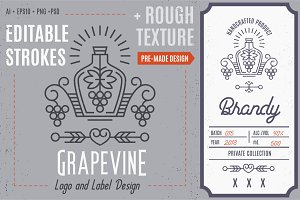Grape Logo/Label Template