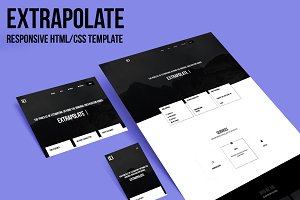 Extrapolate - Responsive One page