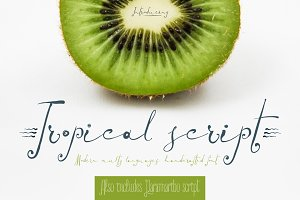 Tropical script + Paramaribo font