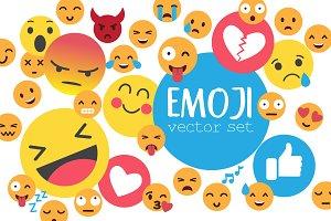 Emoji vector set