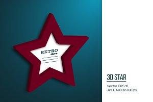 Realistic 3d star.