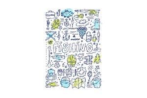 Fishing doodle