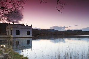 Landscape about Banyoles Lake