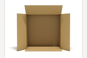Cardboard package box.