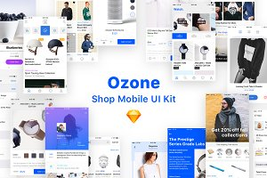 Ozone Shop Mobile UI Kit