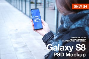 Galaxy S8 High-Res PSD Mockup