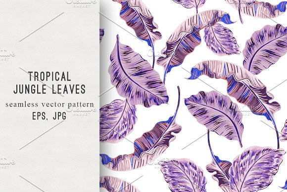 Jungle Tropical Leaves Pattern