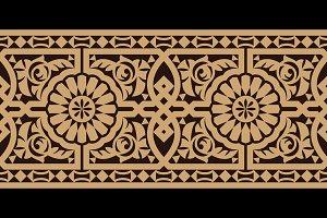 Morocco Floral Seamless Border