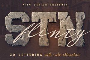 FlintyStone - 3D Lettering