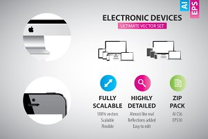 Electronic devices - vector set