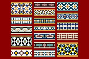 Moorish Seamless Border Set