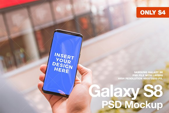 Download Android, Galaxy S8 Mockup